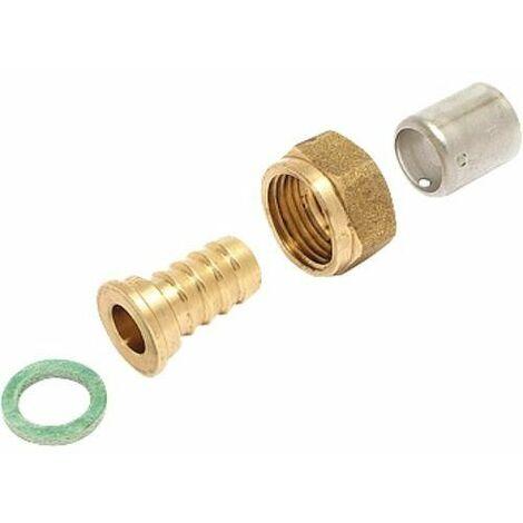 Raccord pour tubes P.E.R. a sertir femelle DN 16 F 1/2
