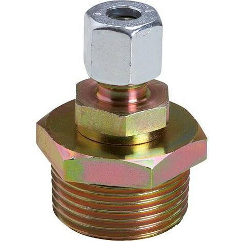Raccord presse etoupe 1 trou acier, 1 x RVS 8 mm