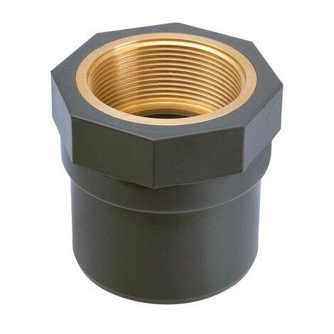 """main image of """"Raccord PVC pression droit - Filetage laiton femelle - Girpi"""""""