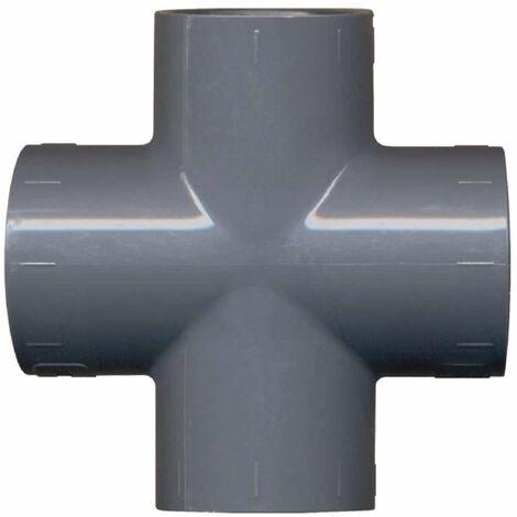 "main image of ""Raccord PVC pression en croix ø25 mm"""