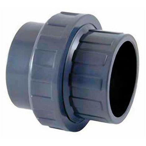 Raccord PVC union 3 pièces à coller Ø 50 mm
