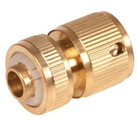 Raccord rapide en laiton 1/2 pour tuyau d'arrosage - 868573 - Silverline