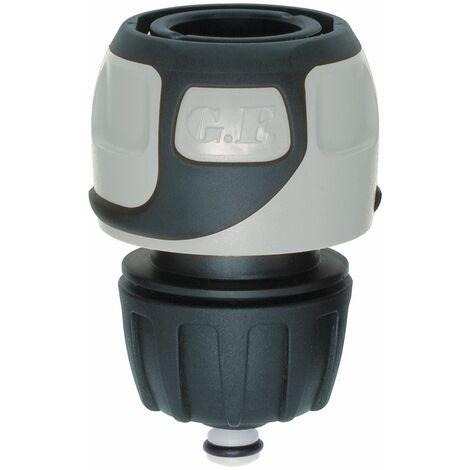 Raccord rapide Soft Touch Aquastop tuyau Ø 12 à 15 mm - Gris