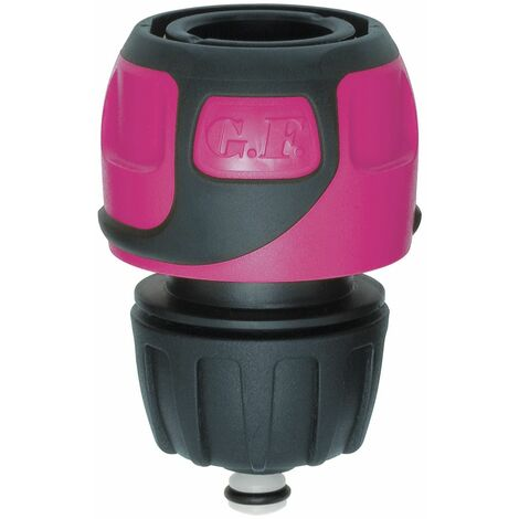 Raccord rapide Soft Touch Aquastop tuyau Ø 16 à 19 mm - Rose