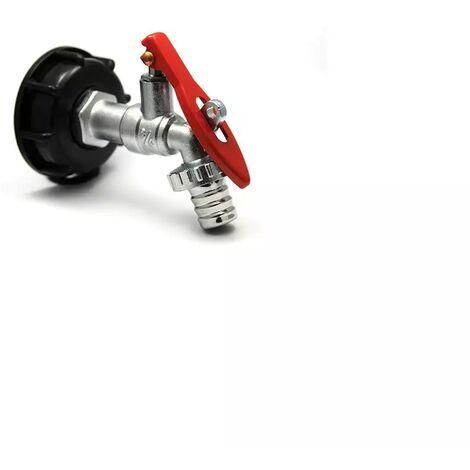 Raccord robinet en laiton chromé cadenassable sortie 19mm 90 degrés - 3/4'' BSP