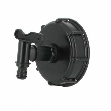 "main image of ""Raccord S100X8 cuve eau - 1 robinet avec nez (type Gardena)"""