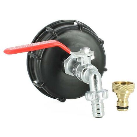 """main image of """"Raccord S100X8 cuve eau - robinet laiton chromé 15 mm + nez de robinet 20x27 laiton"""""""
