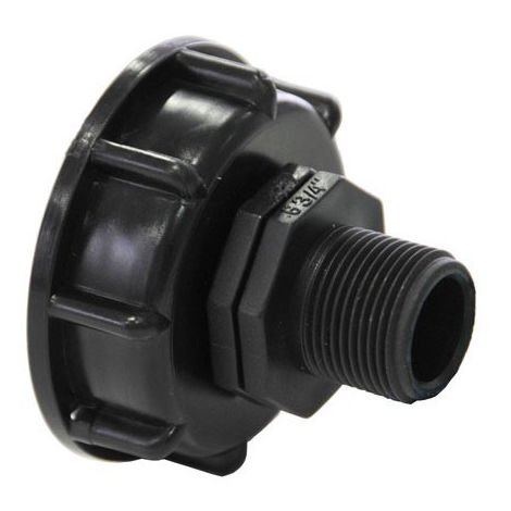 Raccord S60x6 avec embout male 3/4 - 20x27 - 3/4'' BSP