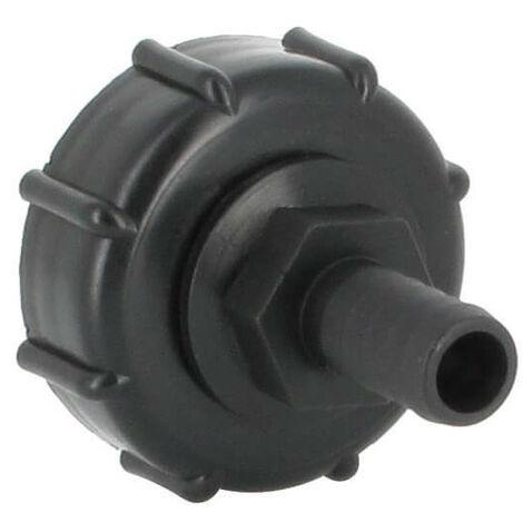 Raccord S60X6 cuve eau - Embout droit Diamètre 15 mm