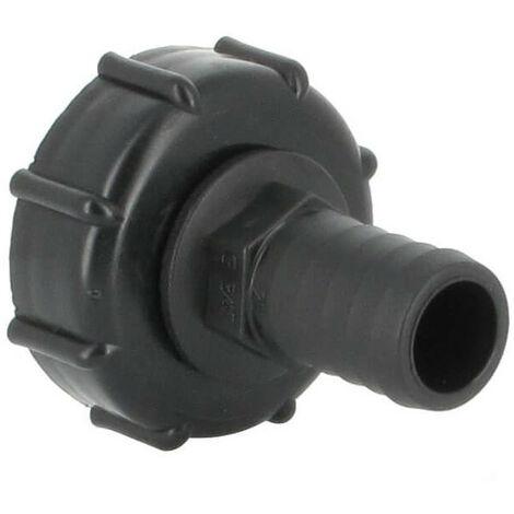 Raccord S60X6 cuve eau - Embout droit Diamètre 25 mm
