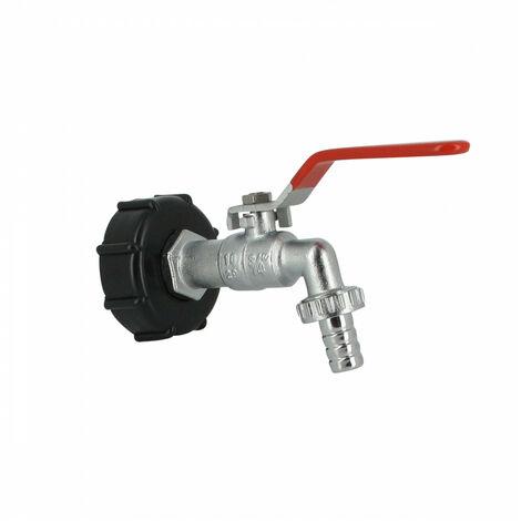 Raccord S60X6 cuve eau ? robinet laiton chromé 15 mm