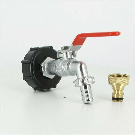 Raccord S60X6 cuve eau ? robinet laiton chromé 15 mm + nez de robinet 20x27 laiton