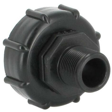 Raccord S60X6 - Fileté mâle 3/4 Pas gaz (20-27 mm)