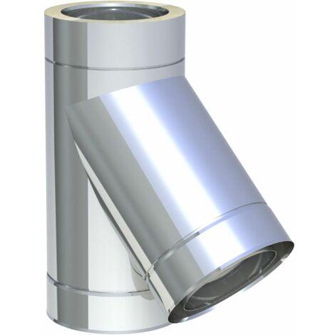 Raccord T 150 mm Diam 45° avec larmier