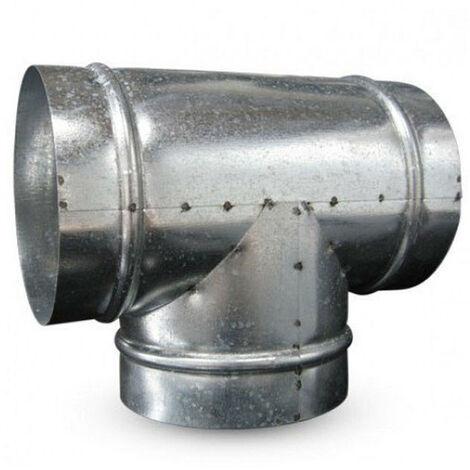Raccord T en métal 315mm 90° - Winflex ventilation