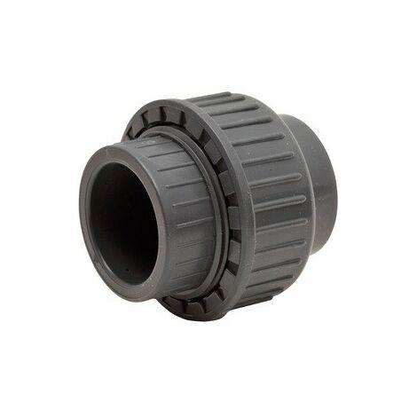 Raccord union 3 pièces PVC pression à coller FF Codital Ø90 de Codital - Raccord PVC pression