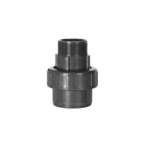 Raccord union PVC pression, mâle 50x60, diamètre 63mm