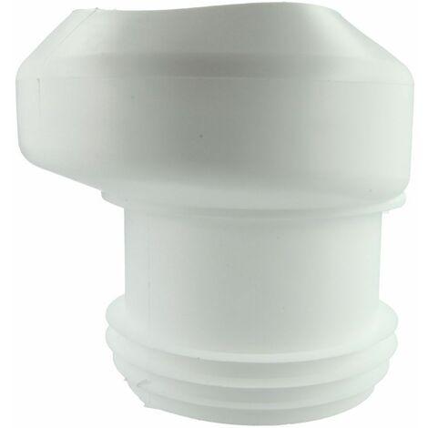 Raccord WC 18,5 mm excentrique 100 x 100 i/e, blanc, pour EURO-WCs