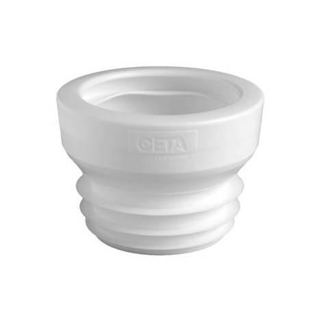 Raccord WC Ceta droit n2 pour tube de 100 cote mâle - Blanc