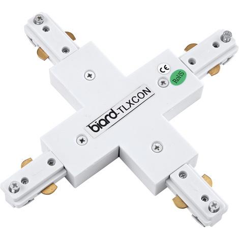 Raccord X pour rail spot LED