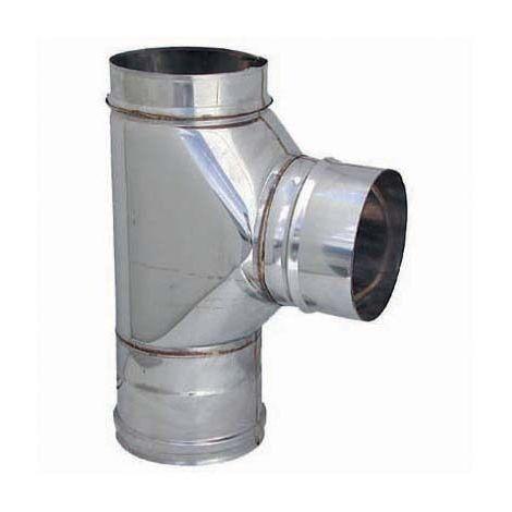 Raccordo a T inox con ispezione in acciaio inox AISI 304 80mm