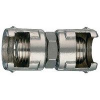 Raccordo di giunzione con 2 dadi fresati 12/a ani tubo aria compressa compressor