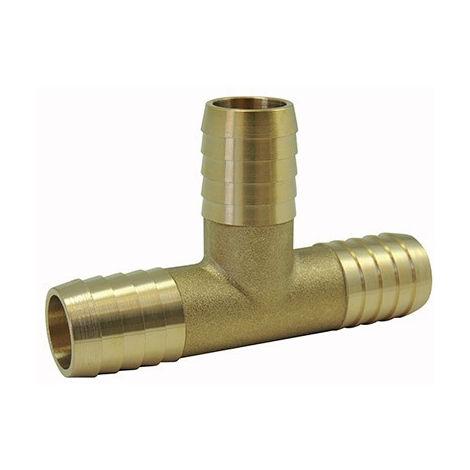 Raccords cannelés : Té de jonction en laiton - 10mm