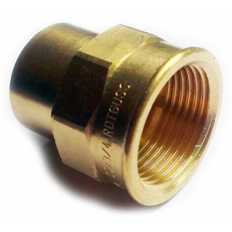 """Raccords en laiton de plomberie pour souder des tuyaux de cuivre 15mm x 1/2 """"BSP femelle pouces"""