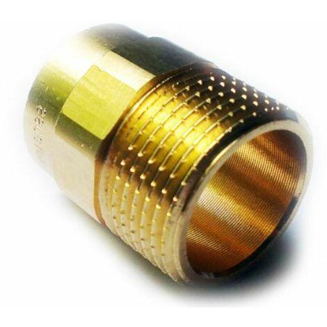 """Raccords en laiton de plomberie pour souder des tuyaux de cuivre 15mm x 1/2 """"mâle BSP pouces"""
