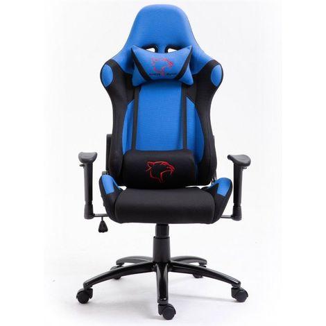 """main image of """"RACE - Fauteuil à roulettes Chaise de Bureau Gaming ergonomique - Siège gamer tissu respirant dossier confortable inclinable - Bleu"""""""