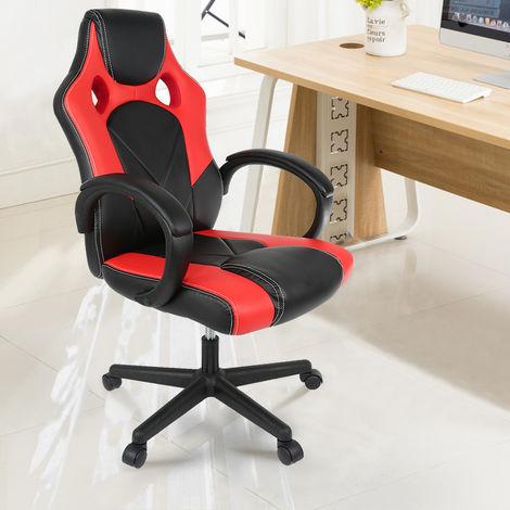 Bürostuhl Chefsessel Sportsitz Racing Stuhl Drehstuhl Schreibtischstuhl schwarz