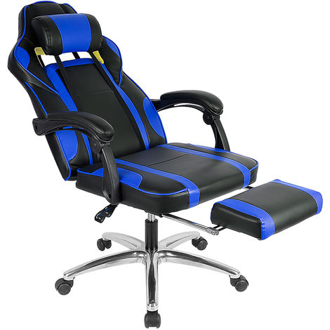 Racing Chaise de Bureau en PU avec Assise Large Chaise Gamer Chaise Gaming