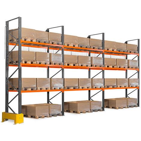Rack à palettes à 3 niveaux : Hauteur 4500mm - Longueur 2225mm - Prof. 1100mm (plusieurs tailles disponibles)