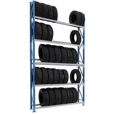 Rack à pneus 5 niveaux : Hauteur 3000mm - Longueur 2000mm - Profondeur 400mm (plusieurs tailles disponibles)
