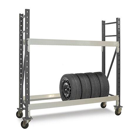 Rack à pneus mobile - Hauteur 1850mm / Longueur 1250mm - Charge max 150kg