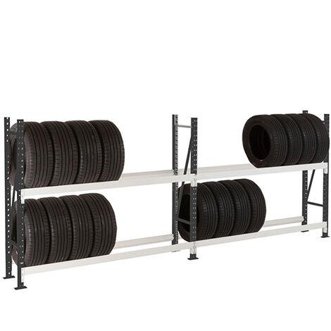 Rack à pneus poids lourds : Hauteur 2000mm - Longueur 1500mm - Profondeur 400mm (plusieurs tailles disponibles)