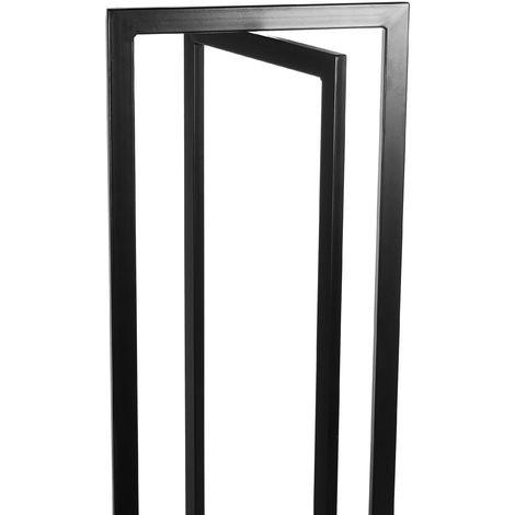Rack porte-bûches design croisillons en acier 120 cm