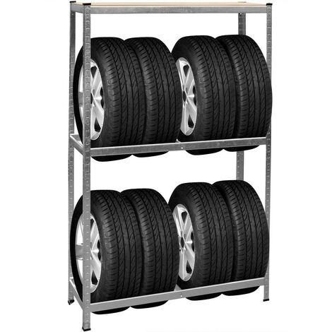 Rack - Rangement Étagère Pour 8 pneus - Charge 300kg - en Acier