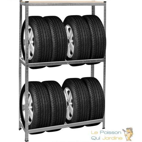 Rack - Rangement Étagère Pour 8 pneus - Charge 795 kg - en Acier
