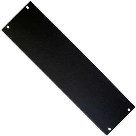 """RackMatic - Blank Rack Panel Blanking Plain Solid 3U panel cover for 19"""" rackmount cabinet"""