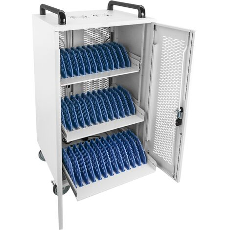 RackMatic - Charging cart for 36 laptop, notebook and tablet white