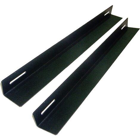 RackMatic - Guías laterales fijas de soporte para armario rack 19 con profundidad 550 mm