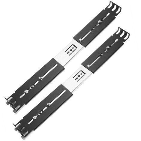 """RackMatic - Guías laterales telescópicas de 390 mm extensibles para caja rack 19"""" IPC"""
