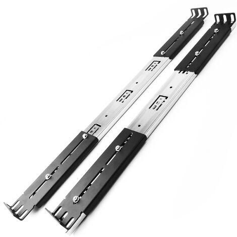 """RackMatic - Guías laterales telescópicas de 550 mm extensibles para caja rack 19"""" IPC"""