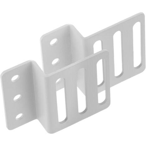 """RackMatic - Kit montaje de regleta rack 19"""" de fijación vertical en armario de transporte blanco"""