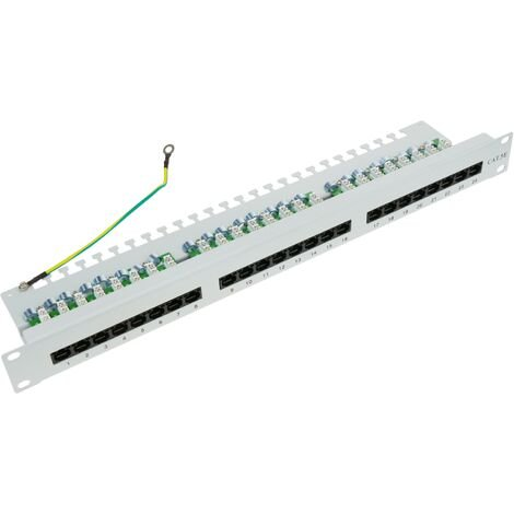 RackMatic - Patch panel 1U 24 RJ45 UTP Cat.5e white