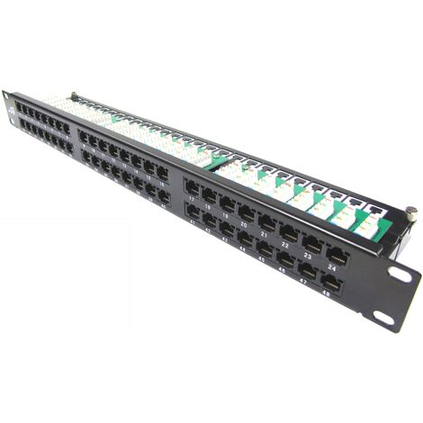 RackMatic - Patch panel 1U 48 RJ45 UTP Cat.5e black
