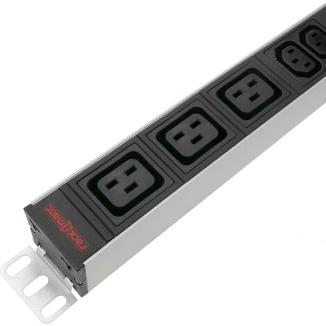 RackMatic - PDU strip 6 C13 and 3 C19 way for server rack 19'' by RackMatic