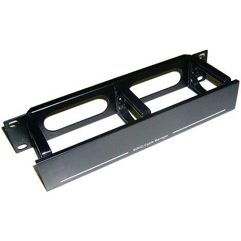 """RackMatic - RackMatic TENRack Panel Gestión Cables 10"""" de 3 anillas con tapa"""