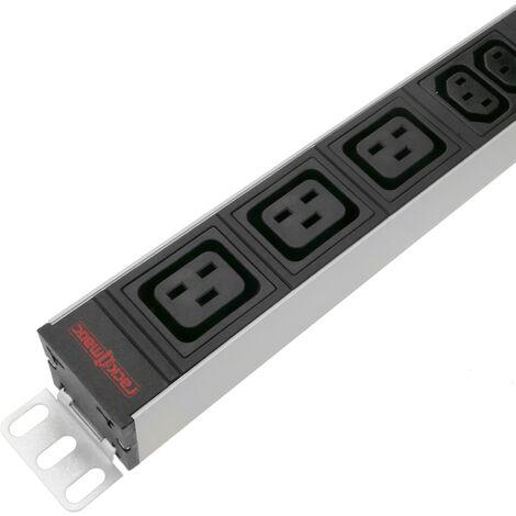 """RackMatic - Regleta de enchufes rack 19"""" con 6 C13 y 3 C19 de RackMatic"""